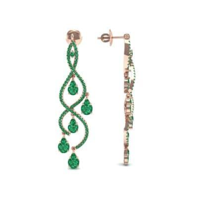 Cascade Emerald Earrings (2.97 CTW) Top Dynamic View