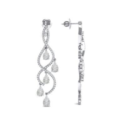 Cascade Diamond Earrings (2.97 CTW) Top Dynamic View