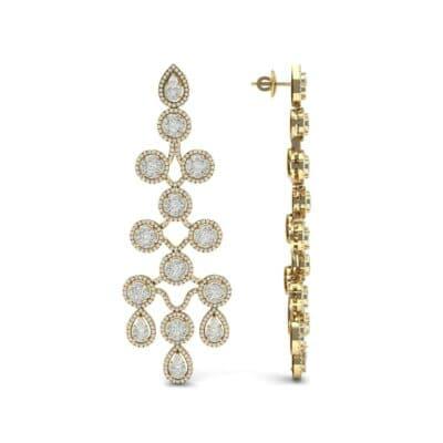 Halo Cascade Diamond Earrings (8.35 CTW) Top Dynamic View