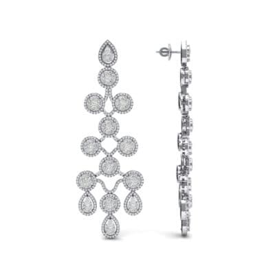 Halo Cascade Crystal Earrings (8.35 CTW) Top Dynamic View