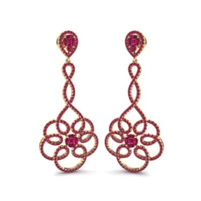 Pirouette Ruby Earrings (2.44 CTW) Perspective View