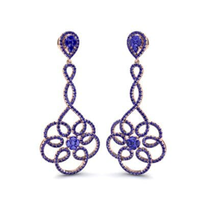 Pirouette Blue Sapphire Earrings (2.44 CTW) Perspective View