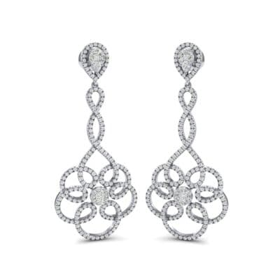 Pirouette Diamond Earrings (2.44 CTW) Perspective View