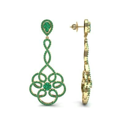 Pirouette Emerald Earrings (2.44 CTW) Top Dynamic View