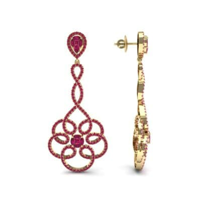 Pirouette Ruby Earrings (2.44 CTW) Top Dynamic View