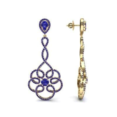 Pirouette Blue Sapphire Earrings (2.44 CTW) Top Dynamic View