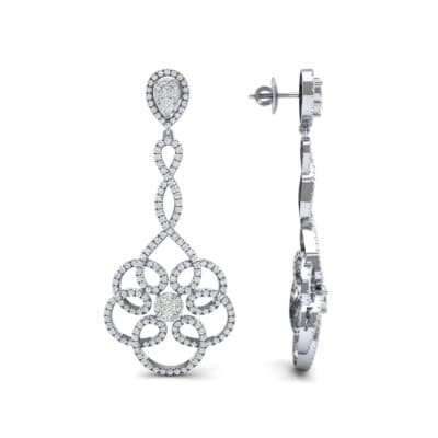 Pirouette Diamond Earrings (2.44 CTW) Top Dynamic View