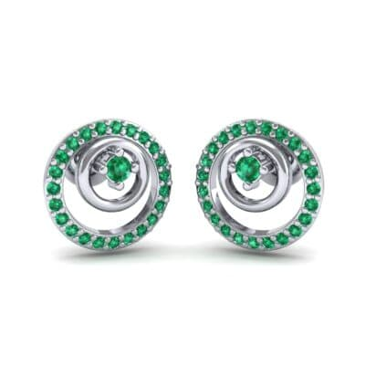 Concentric Emerald Earrings (0.27 CTW) Perspective View