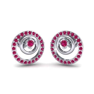 Concentric Ruby Earrings (0.27 CTW) Perspective View
