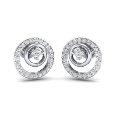 Concentric Diamond Earrings (0.27 CTW) Perspective View