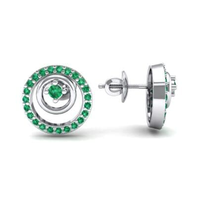 Concentric Emerald Earrings (0.27 CTW) Top Dynamic View