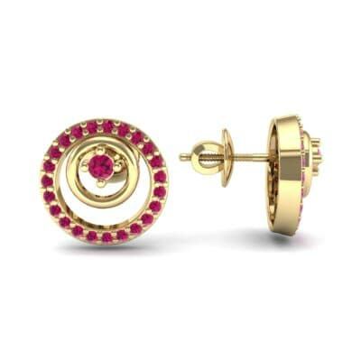 Concentric Ruby Earrings (0.27 CTW) Top Dynamic View