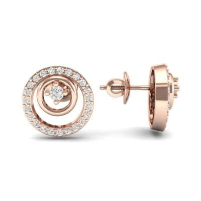 Concentric Diamond Earrings (0.27 CTW) Top Dynamic View