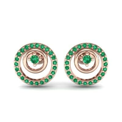 Concentric Emerald Earrings (0.27 CTW) Side View