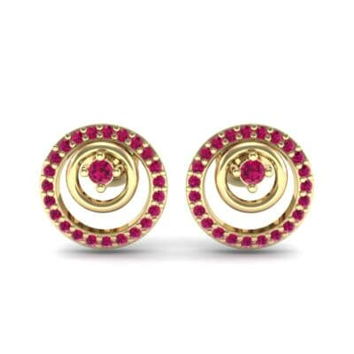 Concentric Ruby Earrings (0.27 CTW) Side View
