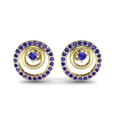 Concentric Blue Sapphire Earrings (0.27 CTW) Side View