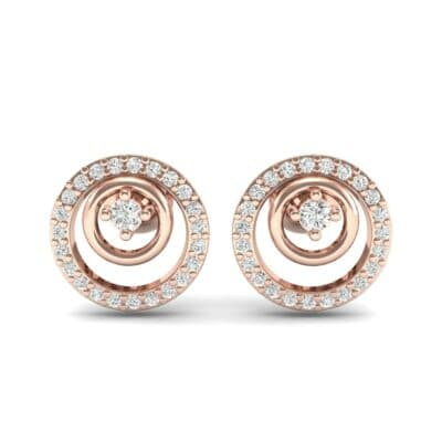 Concentric Diamond Earrings (0.27 CTW) Side View