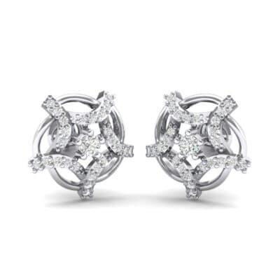 Shuriken Diamond Earrings (0.31 CTW) Perspective View