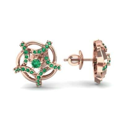 Shuriken Emerald Earrings (0.31 CTW) Top Dynamic View