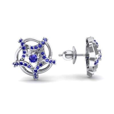 Shuriken Blue Sapphire Earrings (0.31 CTW) Top Dynamic View