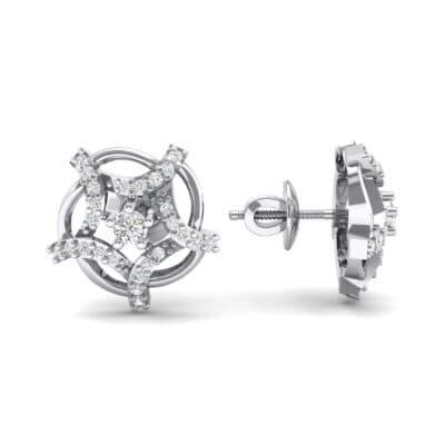 Shuriken Diamond Earrings (0.31 CTW) Top Dynamic View