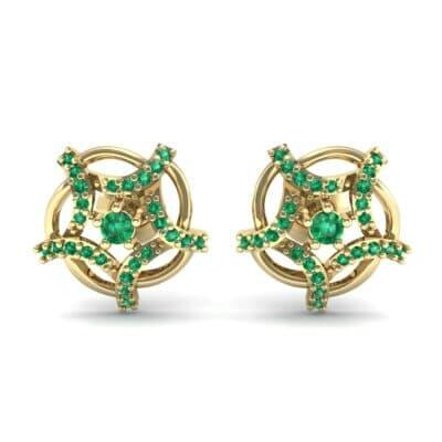 Shuriken Emerald Earrings (0.31 CTW) Side View