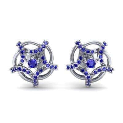 Shuriken Blue Sapphire Earrings (0.31 CTW) Side View