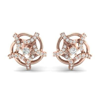 Shuriken Diamond Earrings (0.31 CTW) Side View
