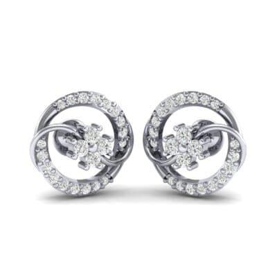 Flower Drum Diamond Earrings (0.32 CTW) Perspective View