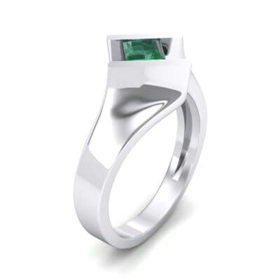 Bold Tension Emerald Ring (0.45 CTW) Perspective View