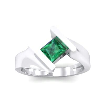 Bold Tension Emerald Ring (0.45 CTW) Top Dynamic View