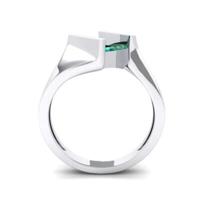 Bold Tension Emerald Ring (0.45 CTW) Side View