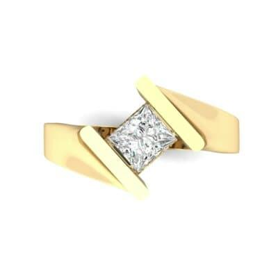Bold Tension Diamond Ring (0.45 CTW) Top Flat View