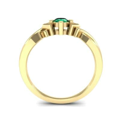 Chevron Twist Solitaire Emerald Engagement Ring (0.25 CTW) Side View