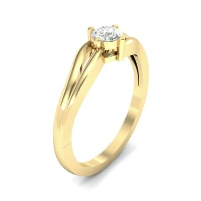 Double Shank Solitaire Diamond Engagement Ring (0.26 CTW) Perspective View