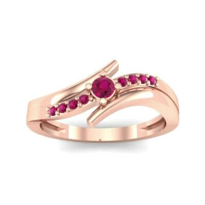 Prong-Set Illusion Bypass Ruby Engagement Ring (0.16 CTW) Top Dynamic View