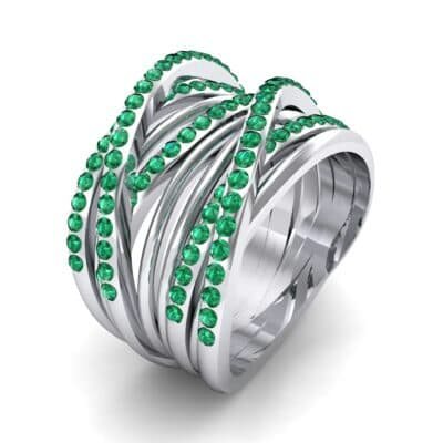 Half-Pave Tangle Ring (1.16 CTW) Perspective View
