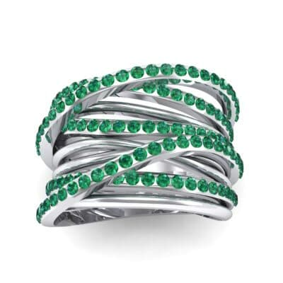 Half-Pave Tangle Ring (1.16 CTW) Top Dynamic View