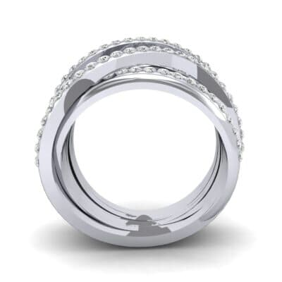 Half-Pave Tangle Ring (1.16 CTW) Side View