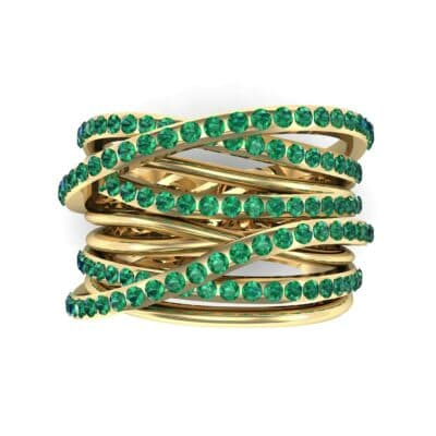 Half-Pave Tangle Ring (1.16 CTW) Top Flat View