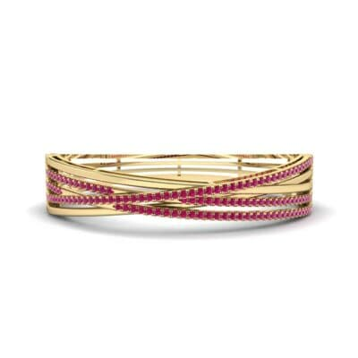 Pave Strand Ruby Cuff (1.92 CTW) Perspective View