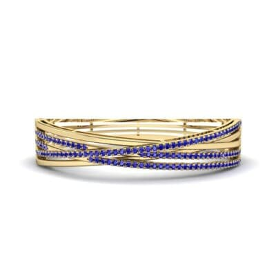 Pave Strand Blue Sapphire Cuff (1.92 CTW) Perspective View