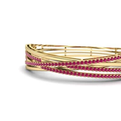 Pave Strand Ruby Cuff (1.92 CTW) Top Dynamic View