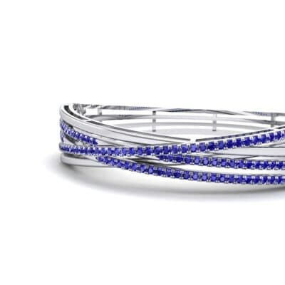 Pave Strand Blue Sapphire Cuff (1.92 CTW) Top Dynamic View