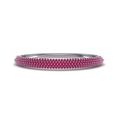 Pave Shield Ruby Cuff (2.64 CTW) Perspective View