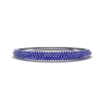 Pave Shield Blue Sapphire Cuff (2.64 CTW) Perspective View