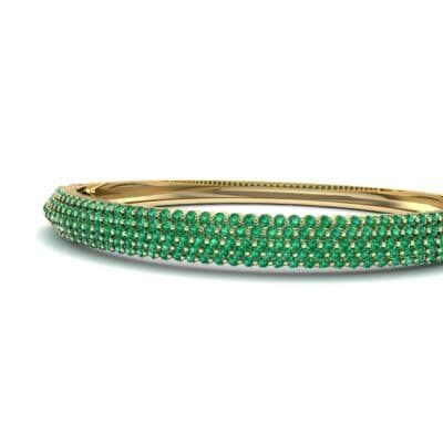 Pave Shield Emerald Cuff (2.64 CTW) Top Dynamic View