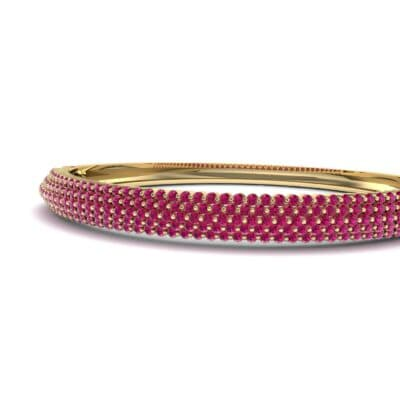 Pave Shield Ruby Cuff (2.64 CTW) Top Dynamic View