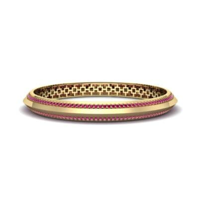 Pave Knife-Edge Ruby Bangle (3.97 CTW) Perspective View