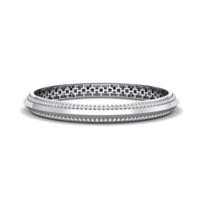 Pave Knife-Edge Crystal Bangle (3.97 CTW) Perspective View